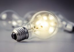 30287347 - light bulb glowing among the others